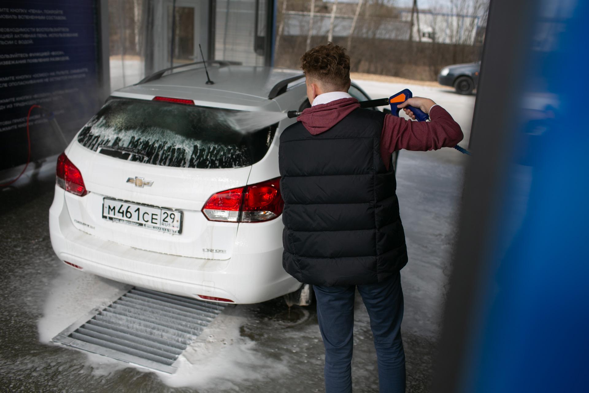 Помыл машину на мойке самообслуживания в городе Вельске